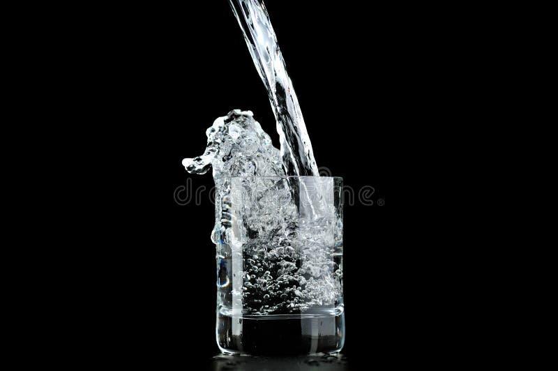 Acqua in vetro fotografia stock libera da diritti