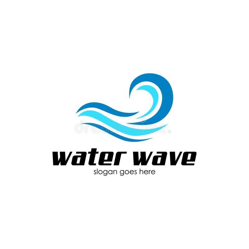 Acqua Wave Logo Vecto Art fotografia stock