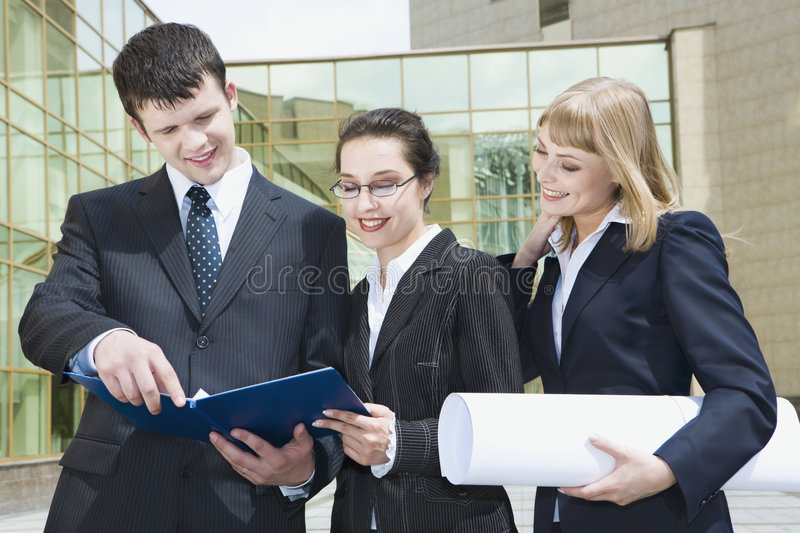 Download Acquaintance With Business Pla Stock Photo - Image: 2559894