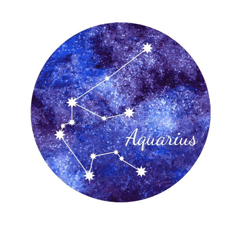 Acquario del segno dell'oroscopo dell'acquerello royalty illustrazione gratis