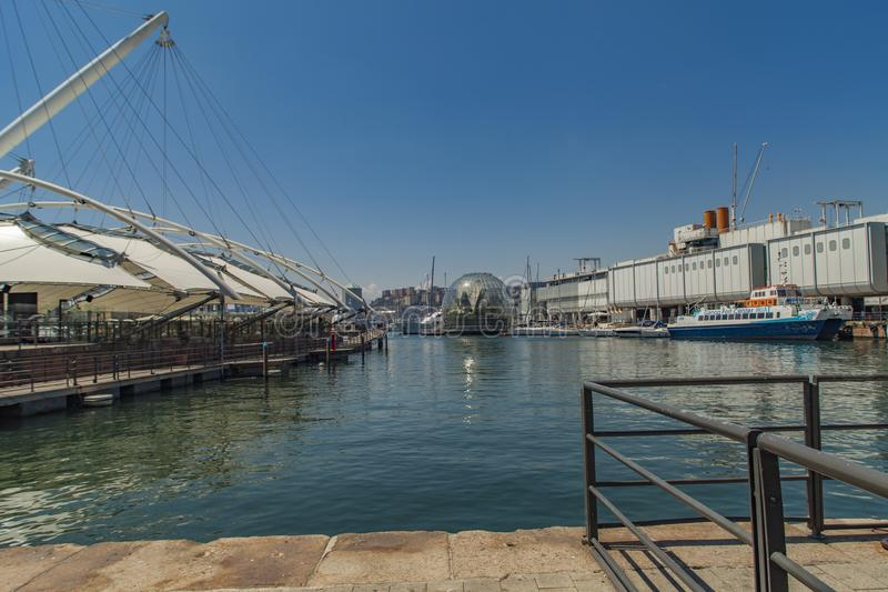 Acquario di Genova in Italia fotografia stock