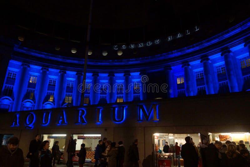 Acquario di Londra e County Hall immagini stock libere da diritti