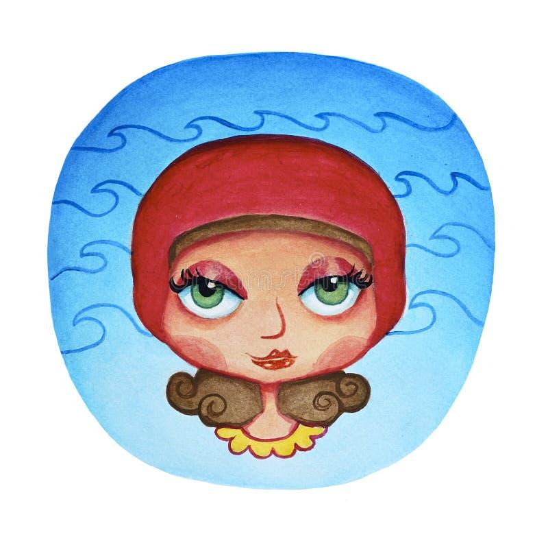 Acquario, illustrazione dell'oroscopo, segno dello zodiaco royalty illustrazione gratis