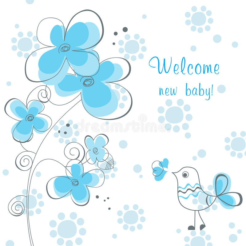 Acquazzone del neonato royalty illustrazione gratis