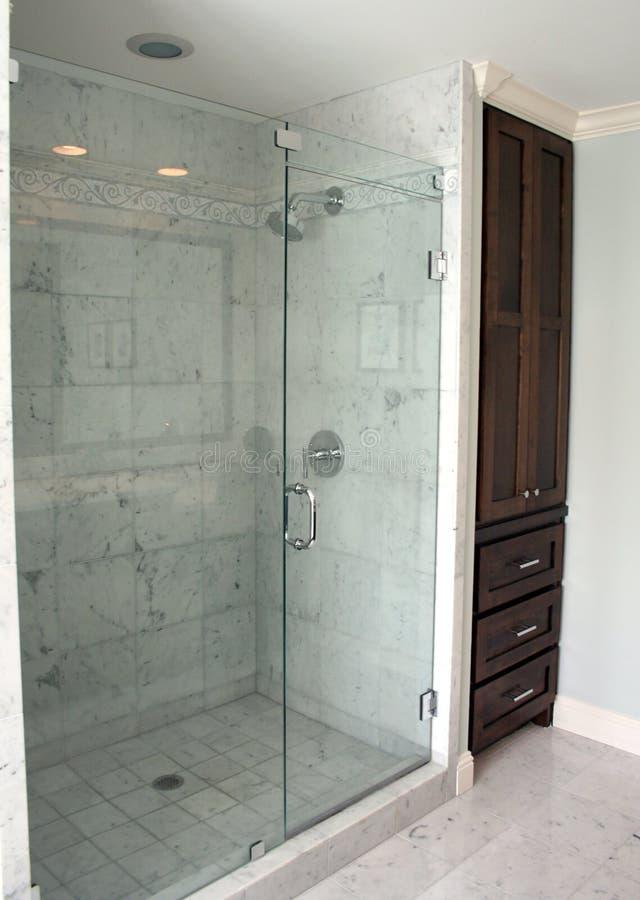 Acquazzone della stanza da bagno fotografia stock libera da diritti