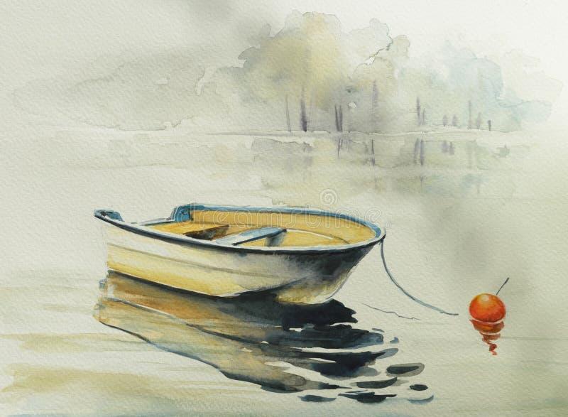 Acquerelli del bowat di pesca dipinti illustrazione vettoriale