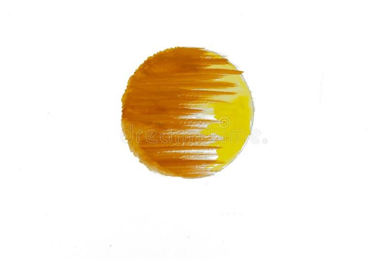 Acquerello arancio e giallo astratto dipinto Immagine di concetto o del fondo immagini stock libere da diritti
