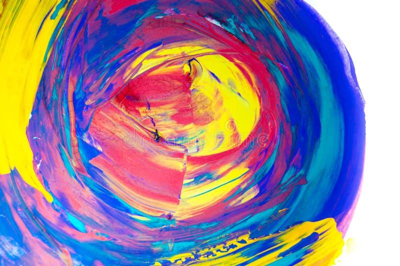 Acquerello astratto su fondo bianco, colpo dipinto a mano della spazzola illustrazione di stock