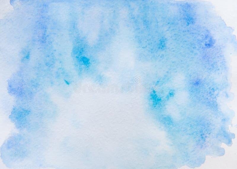 Acquerello blu astratto su fondo bianco Ciò è acquerello fotografie stock libere da diritti