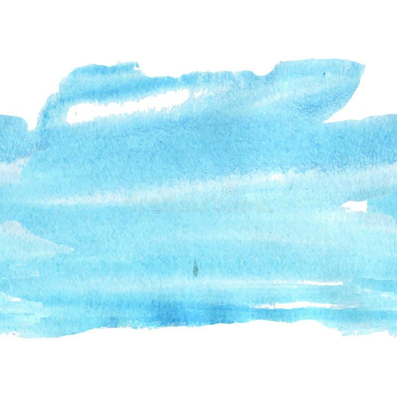 acquerello blu-chiaro ghiacciato illustrazione di stock