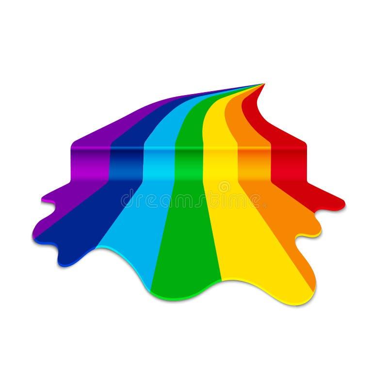 Acquerello a colori dell'arcobaleno dalla corrente di diffusione della pittura royalty illustrazione gratis
