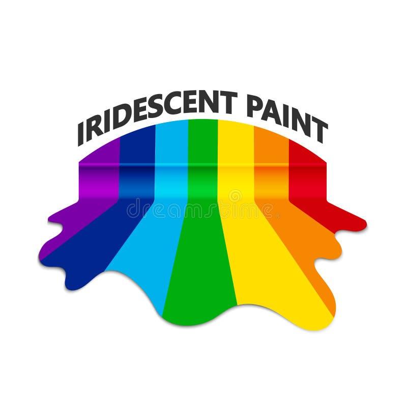 Acquerello a colori dell'arcobaleno dalla corrente di diffusione della pittura illustrazione vettoriale