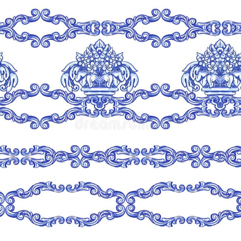 Acquerello del Portoghese di Azulejos illustrazione vettoriale
