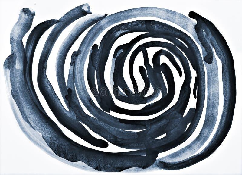 Acquerello grigio astratto su struttura di carta come fondo fotografie stock