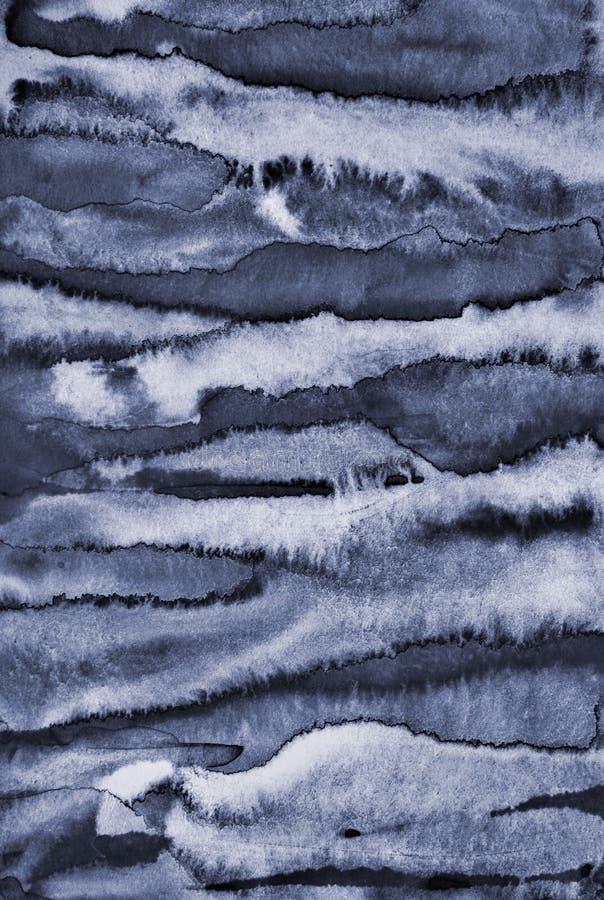 Acquerello grigio astratto su struttura di carta come fondo fotografia stock libera da diritti