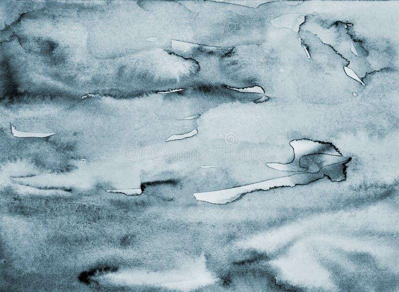 Acquerello grigio astratto su struttura di carta come fondo fotografie stock libere da diritti