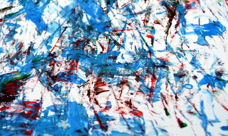 Acquerello luminoso bianco blu che dipinge fondo e struttura astratti fotografie stock libere da diritti