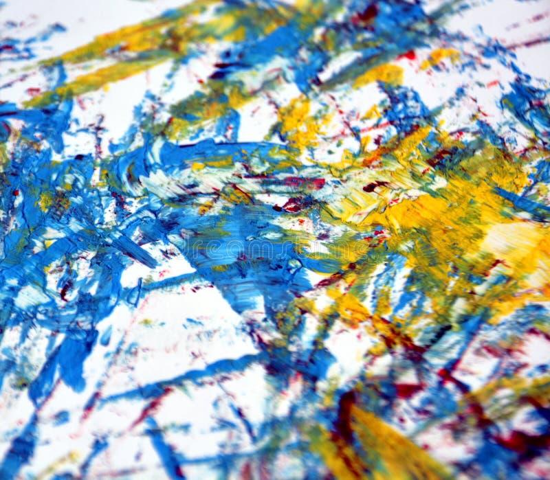 Acquerello rosa blu dell'oro bianco che dipinge fondo luminoso astratto, fondo astratto della pittura di acrilico dell'acquerello fotografia stock