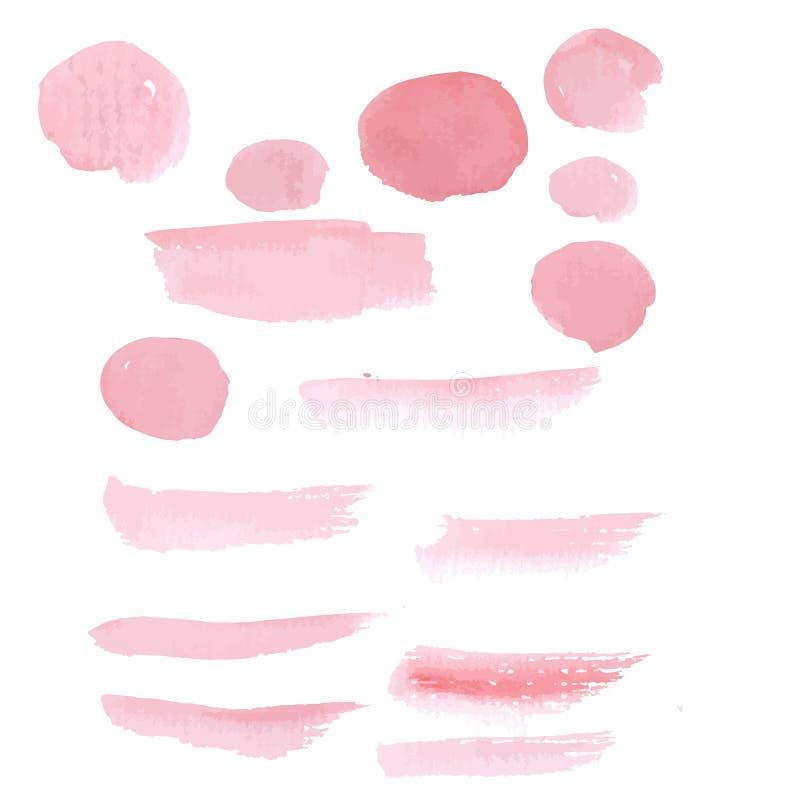 Acquerello rosa disegnato a mano di pennellata della pittura royalty illustrazione gratis
