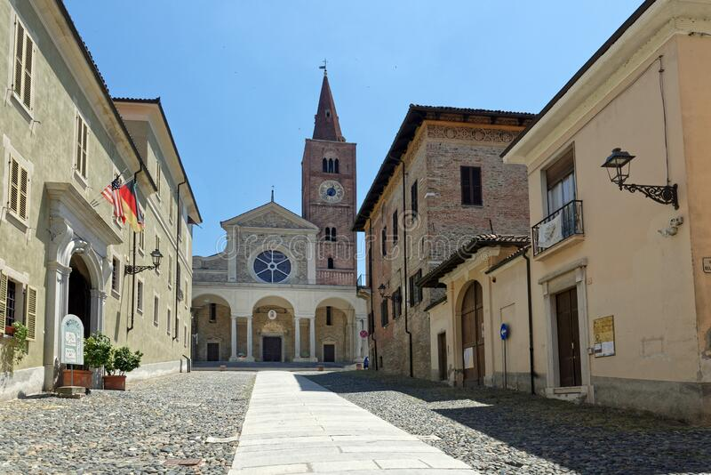 Acqui terme - Cathedral - Romanesque edifice stock images