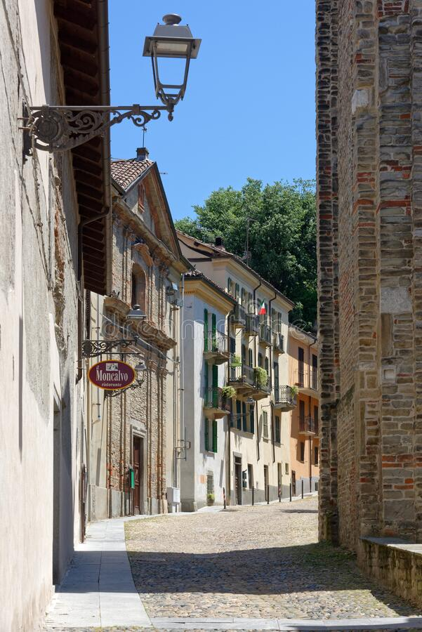 Acqui Terme - road of the ancient village royalty free stock photos