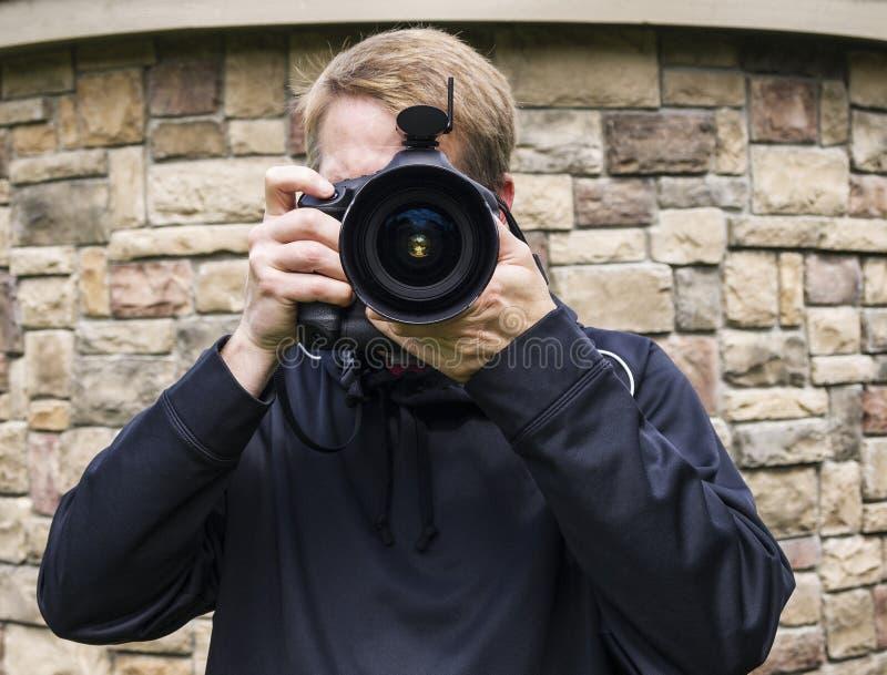 Acquirente maschio della foto fotografia stock libera da diritti