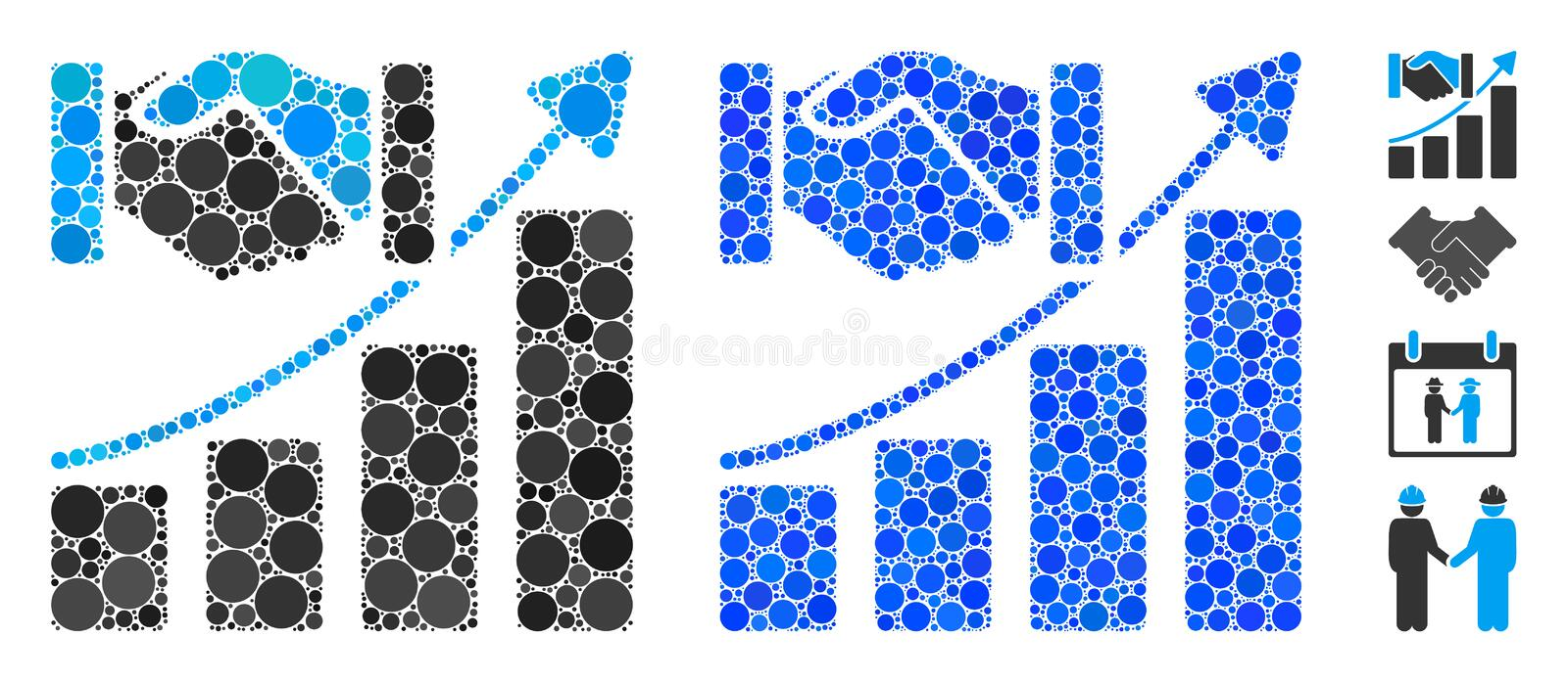 Dispersed Pixelated Halftone Roulette Dealer Icon Stock