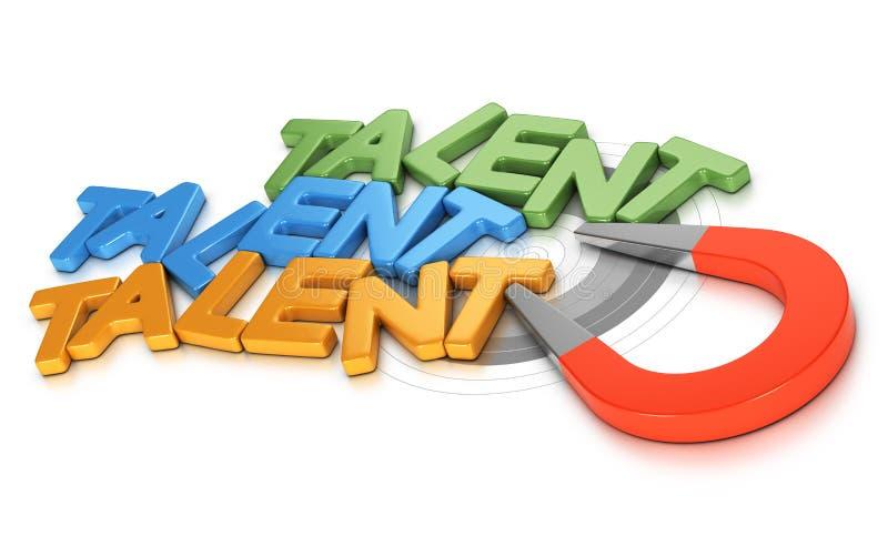Acquisition ou recrutement de talent illustration libre de droits