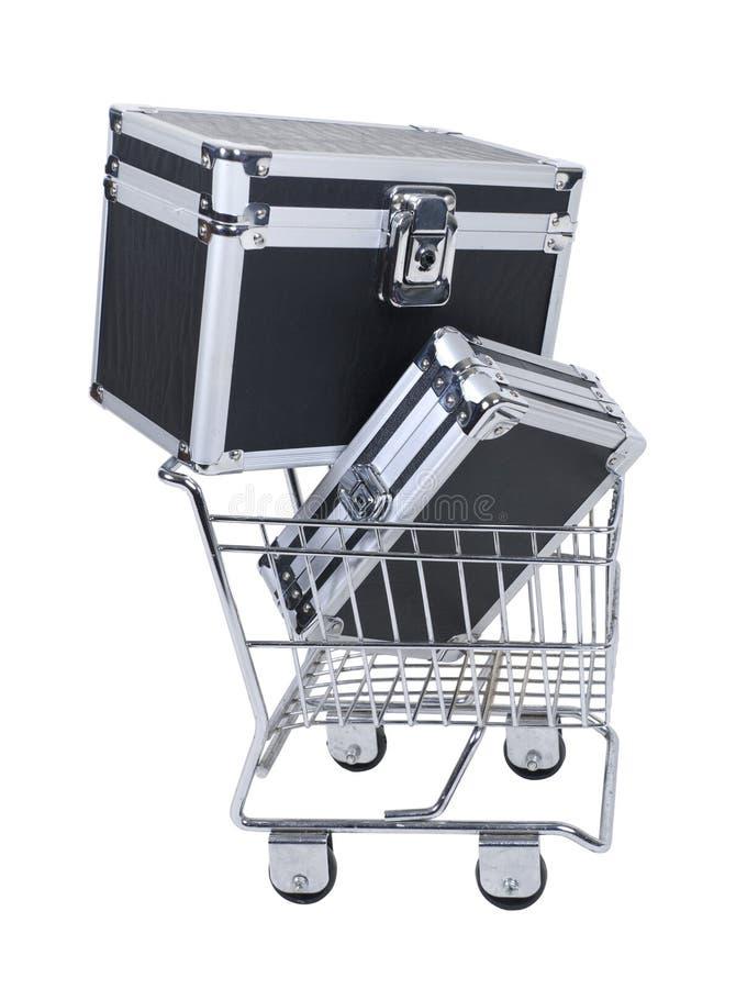 Acquistando per i bagagli immagine stock