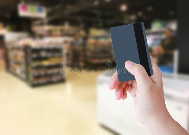 Acquisto con la carta di credito immagini stock