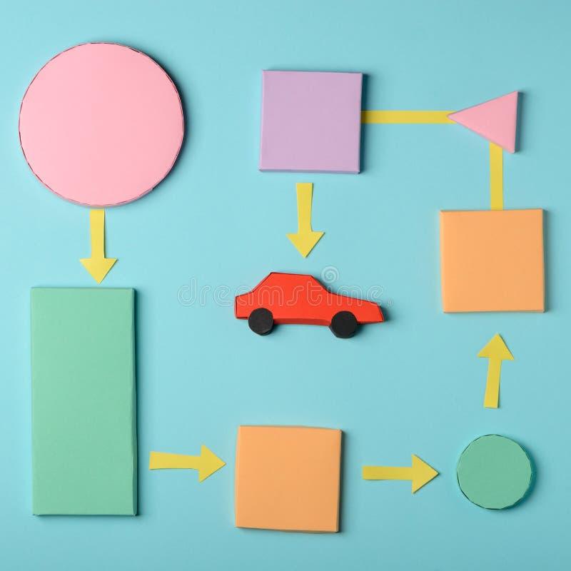 Acquisto del diagramma dell'automobile immagine stock libera da diritti