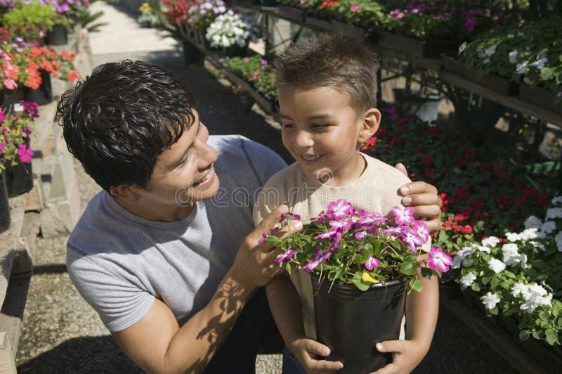 Acquisto del figlio e del padre per le piante nella fine for Acquisto piante