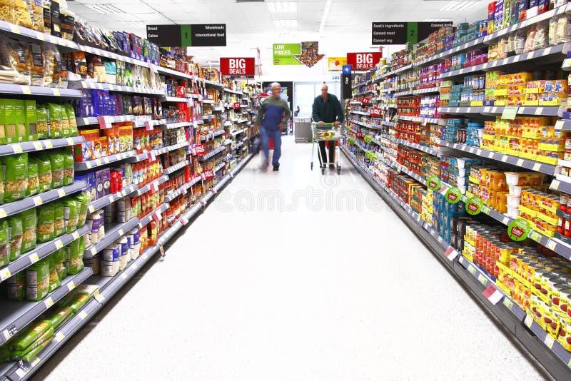 Acquisto del supermercato immagini stock