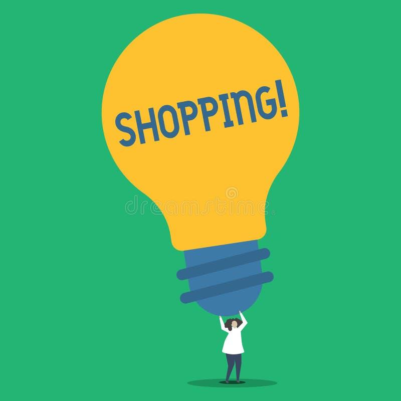 Acquisto del testo della scrittura Persona di esperienza del deposito dei prodotti delle merci dell'acquisto del cliente del clie royalty illustrazione gratis