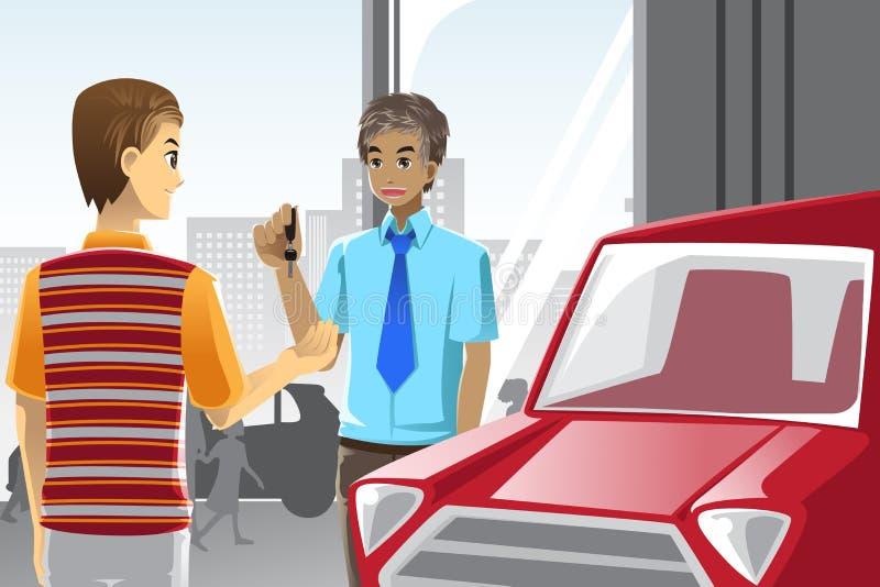 Acquisto dell'automobile royalty illustrazione gratis