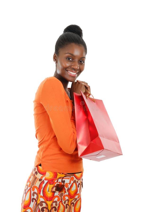 Acquisto della donna dell'afroamericano immagine stock libera da diritti