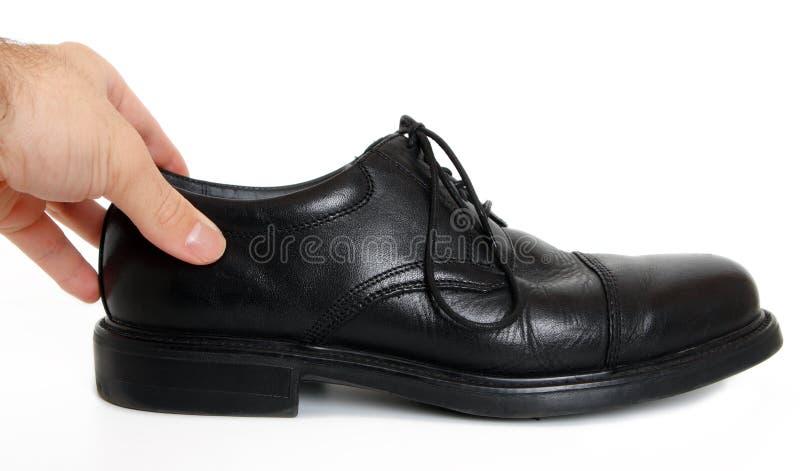 Acquisto della scarpa immagini stock libere da diritti