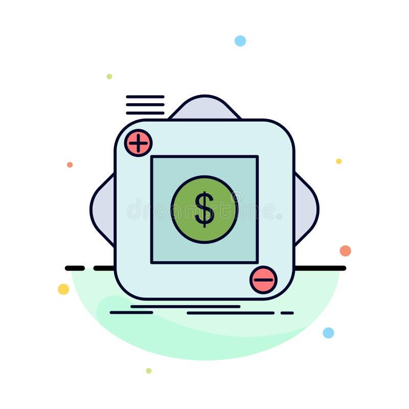 acquisto, deposito, app, applicazione, vettore piano mobile dell'icona di colore illustrazione di stock