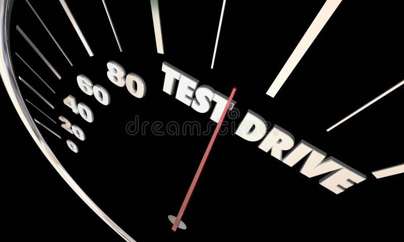 Acquisto di rassegna di valutazione del veicolo dell'automobile della prova su strada illustrazione di stock