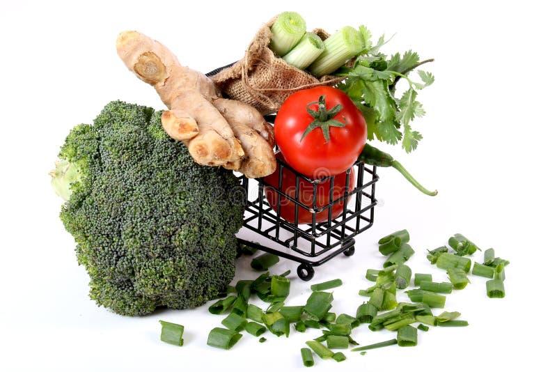 Acquisto di verdure fotografie stock
