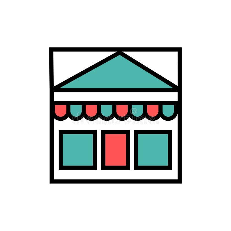 Acquisto, icona del mercato illustrazione vettoriale