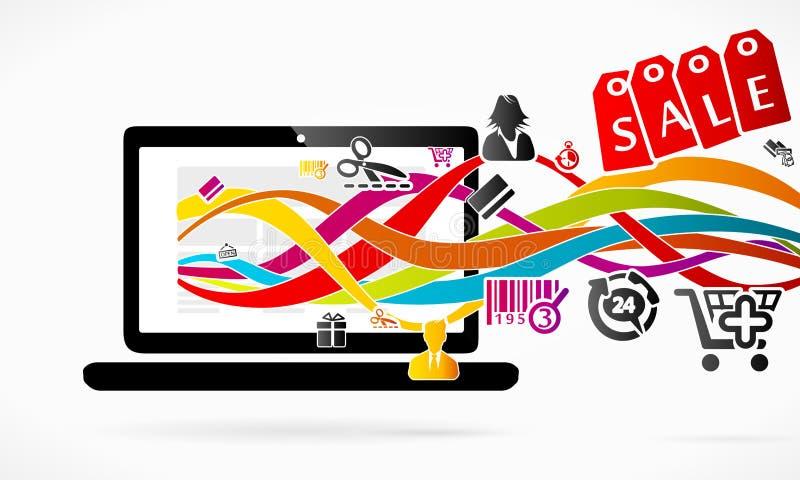 Acquisto online illustrazione di stock