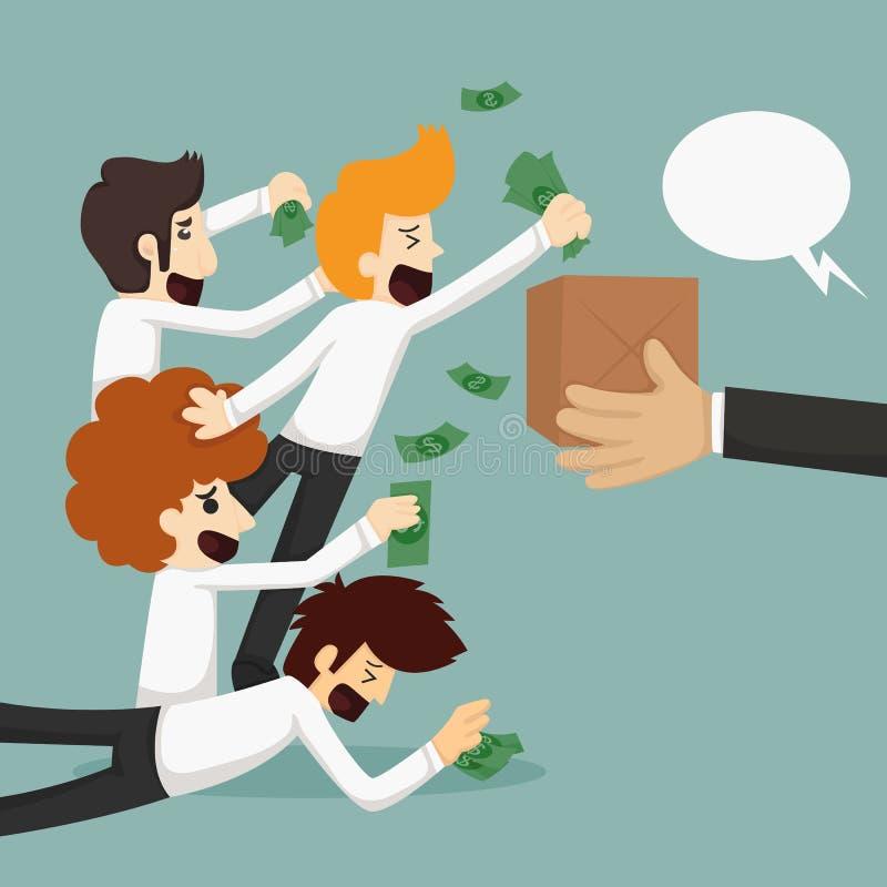 Acquisto online dell'uomo d'affari, concetto di commercio elettronico royalty illustrazione gratis