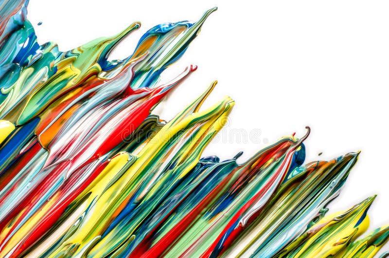 Acrílico abstracto colorido Pinte el goteo imagenes de archivo