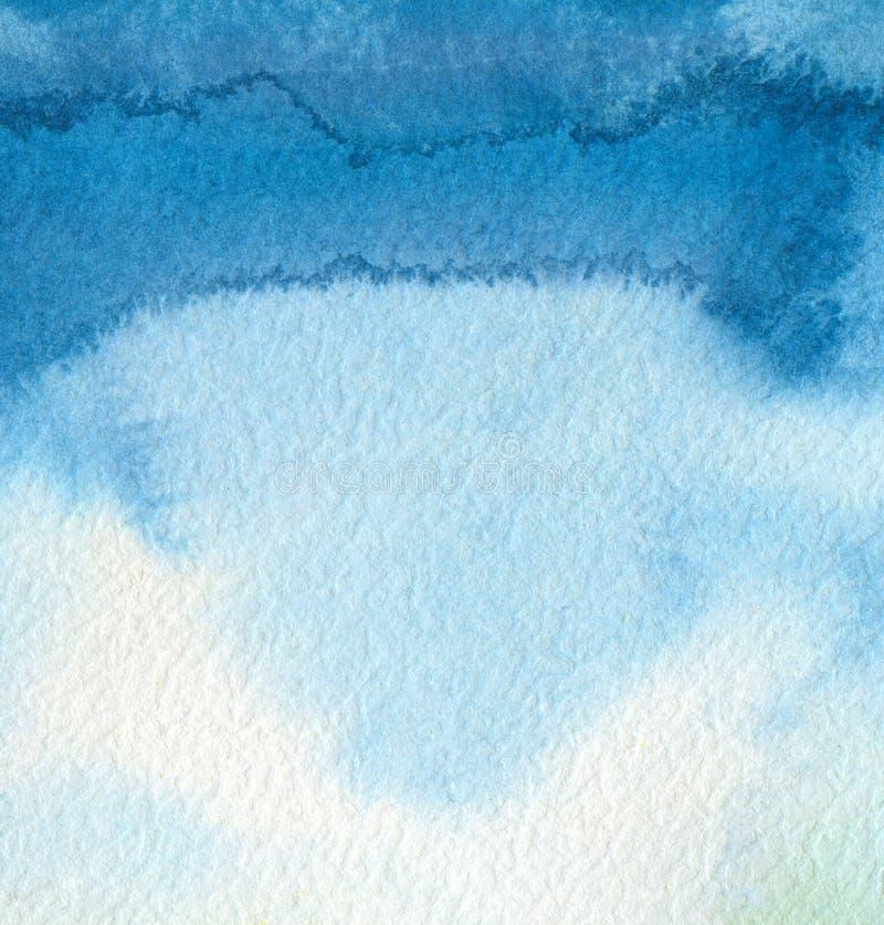 Acrílico abstracto y fondo pintado acuarela Pape de la textura imagen de archivo