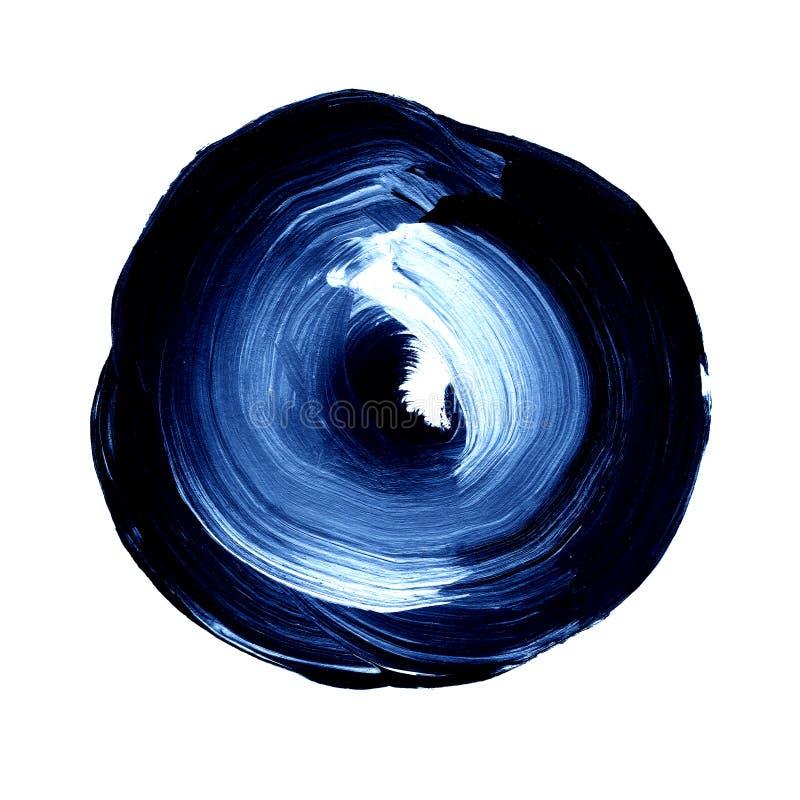 Acrílico abstrato do círculo e fundo pintado aquarela ilustração stock