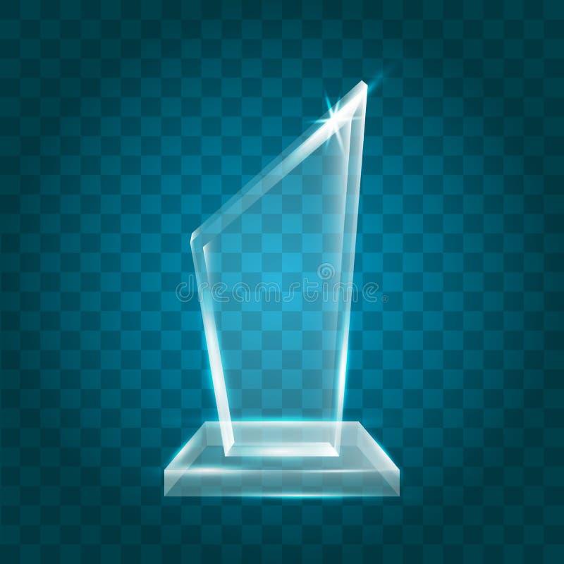 Acrílico en blanco brillante transparente Crystal Glass Trophy Aw del vector libre illustration