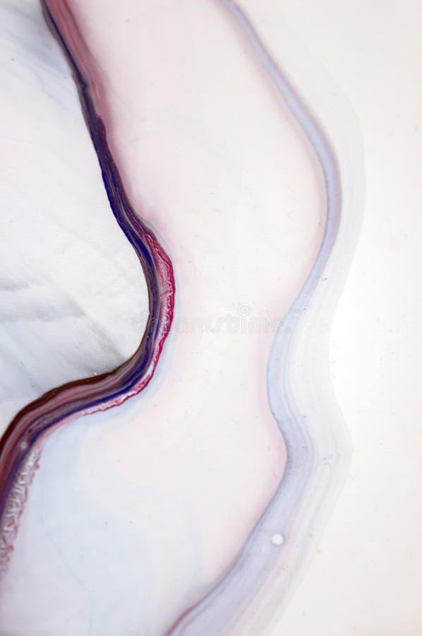 Acrílico, pintura, abstrata Close up da pintura foto de stock