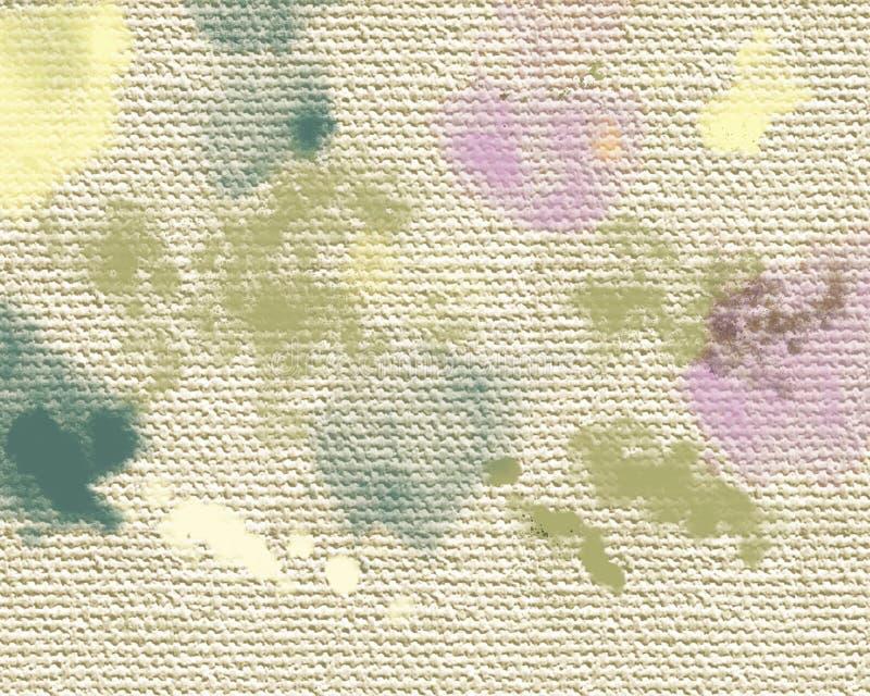 Acrílico seco pinta a mancha Fundo pintado à mão abstrato criativo Cursos de pintura acrílicos na lona Arte moderna foto de stock royalty free