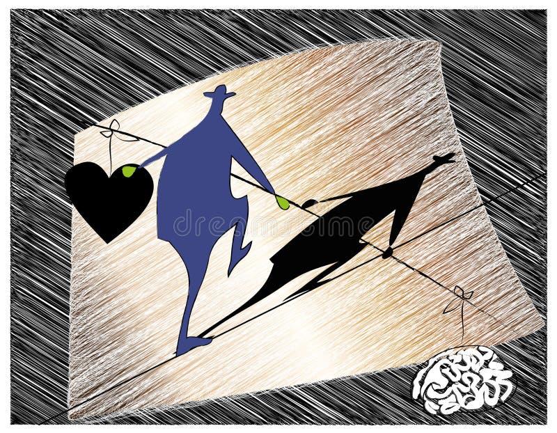 acróbata stock de ilustración